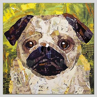 Hang-malované olejomalba Ručně malované - Zvířata Abstraktní Plátno