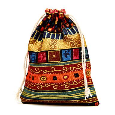 кубический джут пользу держатель с благосклонностью сумки-6 свадебные сувениры