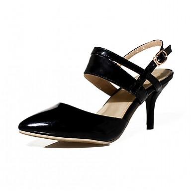 Mulheres Sapatos Courino Couro Ecológico Verão Outono Conforto Inovador Sapatos formais Saltos Caminhada Salto Agulha Dedo Apontado