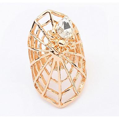 Herrn Damen Ring Synthetischer Diamant Personalisiert Einzigartiges Design Logo Stil Klassisch Retro Strass Böhmische Grundlegend