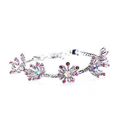Dámské Řetězové & Ploché Náramky Šperky Vintage příroda Módní Ručně Vyrobeno Štras Slitina Oval Shape Šperky Pro Svatební Párty