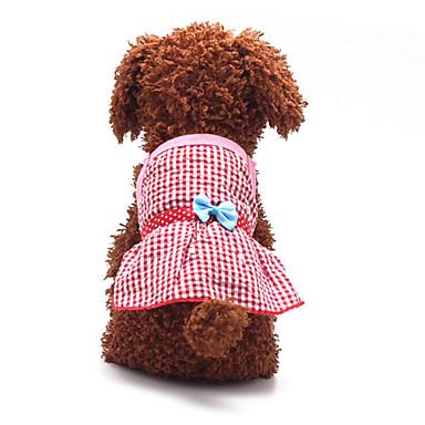 Cachorro Vestidos Roupas para Cães Casual Fashion Laço Amarelo Vermelho Azul Rosa claro Ocasiões Especiais Para animais de estimação