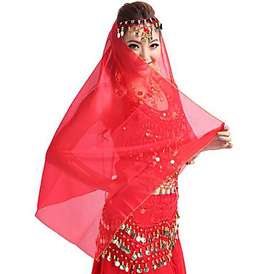 Belly Dance Headpieces Women's Performance Tulle Sequin Headwear