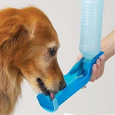L Kat Hond Voerbakken en drinkflessen Huisdieren Kommen & Voeden waterdicht draagbaar Rood Blauw Roze