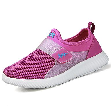 Damen Schuhe Tüll Frühling Herbst Komfort Sportschuhe Flacher Absatz Runde Zehe für Draussen Purpur Rosa