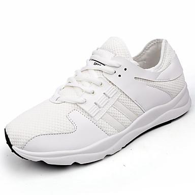 Homens sapatos Tule Primavera Outono Tênis Caminhada Combinação para Branco Preto