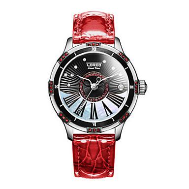 c512ba2e2 نسائي ساعات فاشن ووتش الميكانيكية داخل الساعة أتوماتيك جلد الأبيض / أحمر /  بني مماثل بني أحمر ذهبي روزي