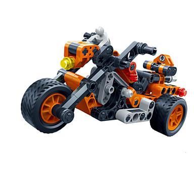 Leluautot Rakennuspalikat Taaksepäin vedettävät ajoneuvot kpl Moottoripyöräily Ralliauto DIY Luova Ralliauto Poikien Unisex Lelut Lahja