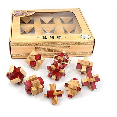 Stavební bloky Dřevěné puzzle Hlavolamy Kong Ming zámek Hračky Test IQ Dřevo Unisex Pieces
