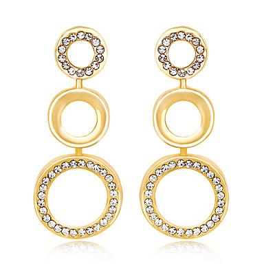 Mulheres Brincos Curtos - Original Euramerican Fashion Dourado Forma Geométrica Brincos Para Casamento Festa Ocasião Especial Aniversário