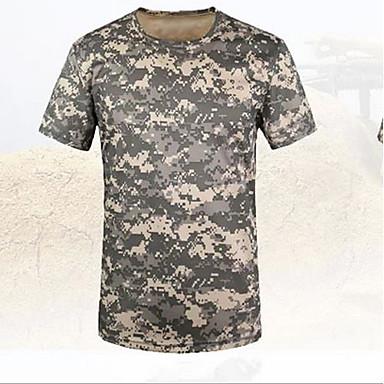 Homens Camiseta de Trilha Ao ar livre Não Deforma Camiseta Blusas