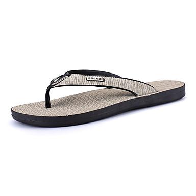 Homens sapatos Couro Ecológico Primavera Outono Conforto Sandálias para Casual Cinzento Castanho Claro