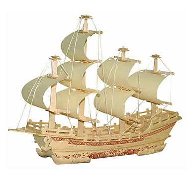 3D puzzle Modele Hračky Loď Dřevo Unisex Pieces