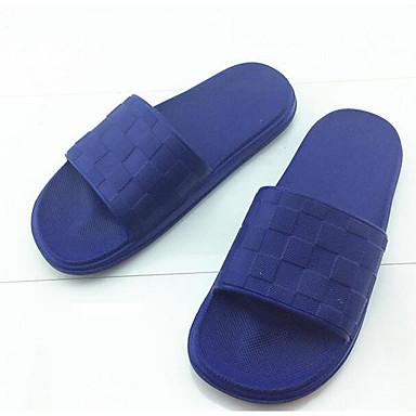 Herren Schuhe Gummi Frühling Komfort paar Schuhe Slippers & Flip-Flops Für Normal Grau Marinenblau Hellblau