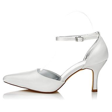 Automne Confort Ivoire Aiguille Bout amp; mariage 05985002 Talon Hiver Evénement de Femme Chaussures Soie Soirée Chaussures Boucle pointu OqIBEwU