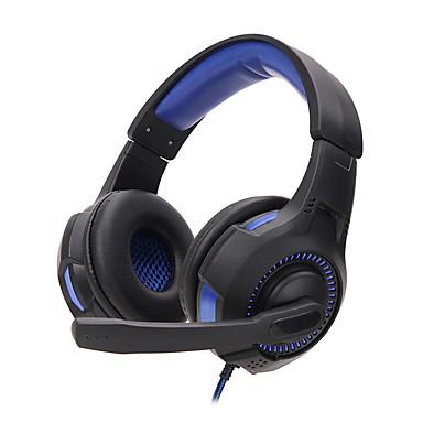 SY855MV Über Ohr Stirnband Mit Kabel Kopfhörer Ausgeglichener Armatur Kunststoff Spielen Kopfhörer Mit Lautstärkeregelung Mit Mikrofon
