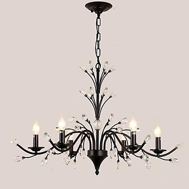 LightMyself™ 6-luz Lustres Luz Superior - Cristal, LED, 110-120V / 220-240V Lâmpada Não Incluída / 20-30㎡ / E12 / E14