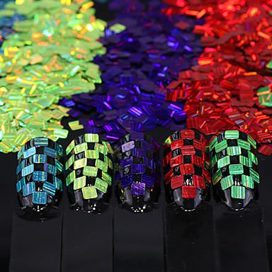 12 Flitry Glittery Free Form Klasické Nail Art Forms Design nehtů