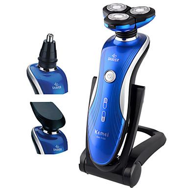 Depilador Elétrico Rosto Elétrico Barbeadora Rotativa Acessórios de barbearProva de Água Barbeação Molhada/Seca Indicador de Bateria LCD