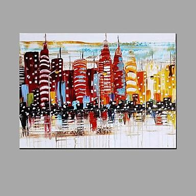 Ručně malované KrajinaAbstraktní Pastýřský Jeden panel Plátno Hang-malované olejomalba For Home dekorace