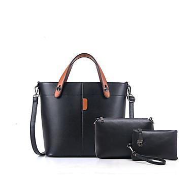 Damen Taschen Ganzjährig PU Bag Set für Normal Schwarz Rote Grau Braun