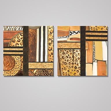 Aufgespannte Leinwandrucke Abstrakt Modern,Zwei Panele Leinwand Quadratisch Druck-Kunst Wand Dekoration For Haus Dekoration