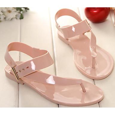 Naiset Kengät PU PP (polypropeeni) Kevät Comfort Sandaalit Käyttötarkoitus Kausaliteetti Valkoinen Musta Pinkki
