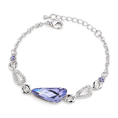 Dámské Řetězové & Ploché Náramky Šperky Vintage příroda Ručně Vyrobeno Módní Křišťál Slitina Round Shape Šperky Pro Svatební Párty