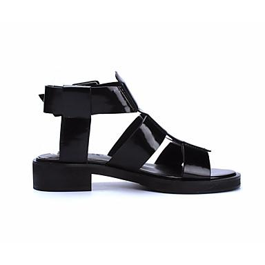 Naiset Sandaalit Kevät PU Valkoinen Musta 1-1,75in
