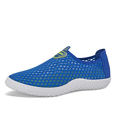 Unisex Schuhe Tüll Sommer Komfort Leuchtende Sohlen paar Schuhe Loafers & Slip-Ons Für Normal Grau Fuchsia Grün Grün und Blau Königsblau