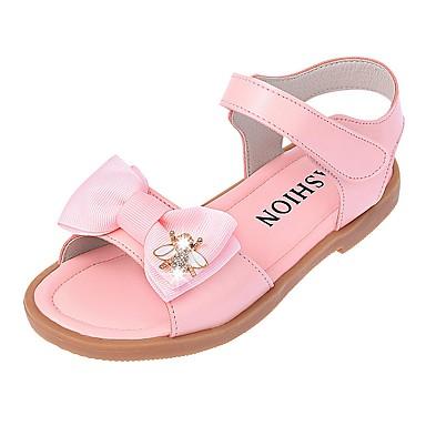 Mädchen Schuhe Kunstleder Sommer Herbst Freizeit Schuhe für das Blumenmädchen Sandalen Walking Strass Schleife Klett Für Normal