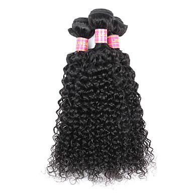 Cabelo Brasileiro Weave Curly Crespo Cacheado Tramas de cabelo humano 3 Peças 0.3