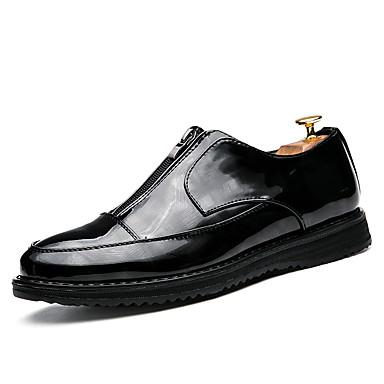 Pánské Oxfordské Bullock boty Společenské boty Koženka Jaro Léto Podzim Zima Svatba Běžné Party Chůze Zip Plochá podrážka Černá Plochý