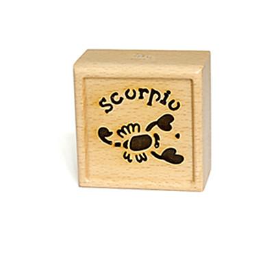 Caixa de música Madeira Quadrada Presente Unisexo Dom