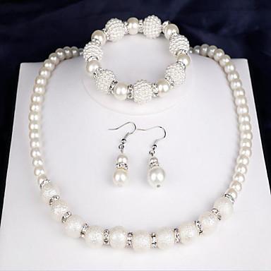 levne Sady šperků-Dámské Svatební šperky Soupravy dámy Módní Elegantní Na každý den Perly Náušnice Šperky Bílá Pro Svatební Párty Výročí Gratulace Dar Denní