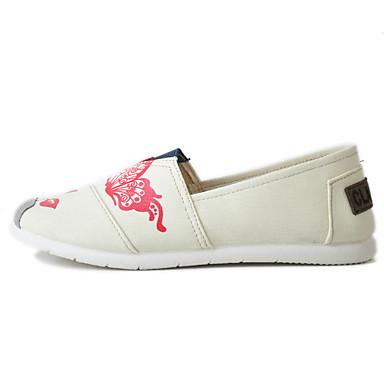 Mulheres Sapatos Tecido Primavera Solados com Luzes Conforto Mocassins e Slip-Ons Caminhada Sem Salto Ponta Redonda para Diário Casual
