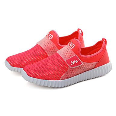 Naisten Kengät PU Kevät Kesä Urheilukengät Matala korko varten Punainen Sininen Pinkki