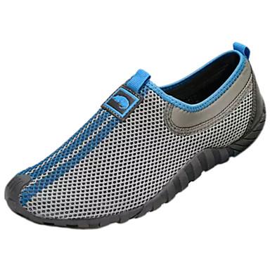 Homens sapatos Couro Ecológico Primavera Verão Conforto Mocassins e Slip-Ons Caminhada para Casual Cinzento Azul