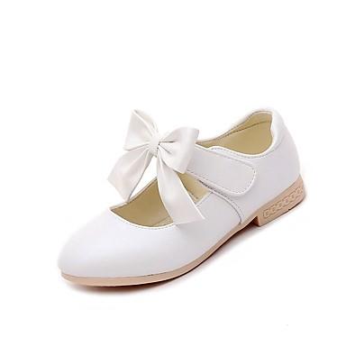 Para Meninas sapatos Courino Verão Outono Casual Sandálias Caminhada Laço para Festa Casual Dourado Branco Rosa claro