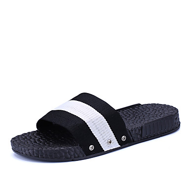Dámské Sandály Pohodlné Léto Podzim PU Plochá podrážka Zelená Modrá Černobílá Plochý