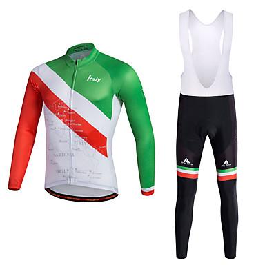 Miloto Homens Camisa com Calça Bretelle - Vermelho Moto Conjuntos de Roupas Poliéster Lycra