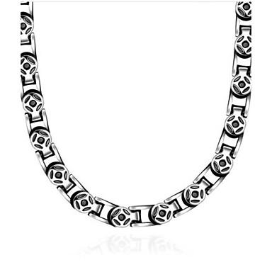 Pánské Obojkové náhrdelníky - Titanová ocel Vintage Stříbrná Náhrdelníky Pro Dar, Denní, Ležérní