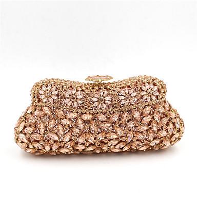 Dámské Tašky Polyester Speciální materiál Večerní kabelka Křišťál / imitace drahokamu Akrylové šperky pro Svatební Večírek Ležérní Celý