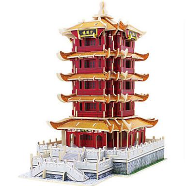 Robotime 3D Puzzle Jigsaw Puzzle Wood Model Tower Famous buildings DIY Wooden Classic Unisex Gift