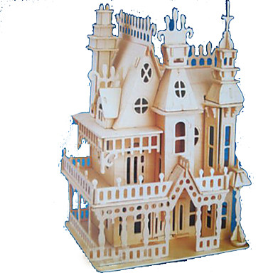 3D Puzzle Jigsaw Puzzle Wood Model Model Building Kit Castle Famous buildings Wood Natural Wood Adults' Unisex Gift