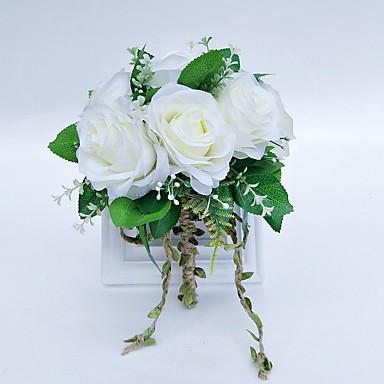 Bouquets de Noiva Buquês Casamento Tule Poliéster 9.84
