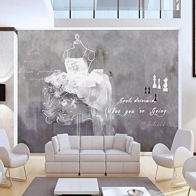 Flise Mønster Hjem Dekor Moderne Tapetsering, U-vevet stoff Materiale selvklebende nødvendig Veggmaleri, Tapet