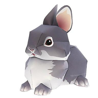 voordelige 3D-puzzels-3D-puzzels Bouwplaat Modelbouwsets Rabbit Dieren DHZ Simulatie Hard Kaart Paper Klassiek Kinderen Unisex Speeltjes Geschenk