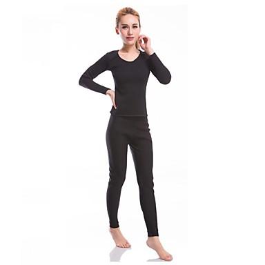 Mulheres Conjunto Camiseta e Calça de Corrida Manga Longa Fitness, Corrida e Yoga Conjuntos de Roupas para Ioga Exercício e Atividade