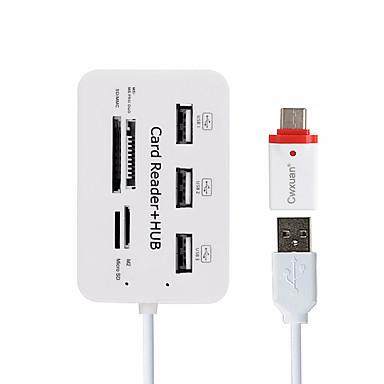 Cwxuan 7 Hub USB USB 2.0 USB 2.0 Com leitor de cartão (s) OTG Hub de dados